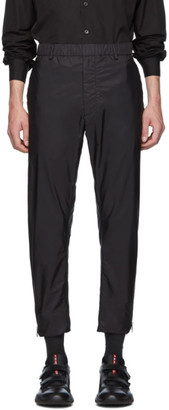 Prada Black Nylon Full Side Zip Trousers