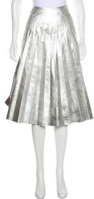 Gucci Silk Pleated Skirt Silver Silk Pleated Skirt