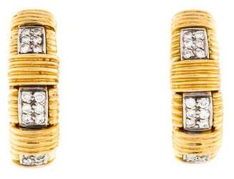 Roberto Coin Diamond Clip-On Earrings
