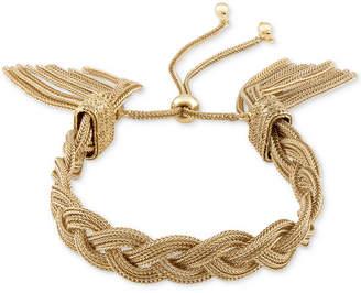 Rachel Roy Gold-Tone Rope Tassel Slider Bracelet