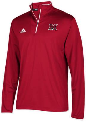 adidas Men's Miami (Ohio) Redhawks Team Iconic Quarter-Zip Pullover