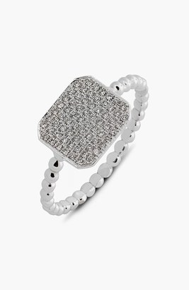 Women's Bony Levy 'Aurora' Diamond Pave Rectangle Ring (Limited Edition) (Nordstrom Exclusive) $1,075 thestylecure.com