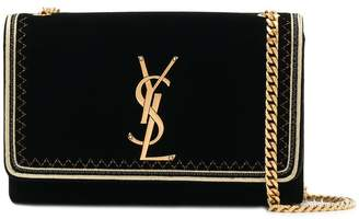 Saint Laurent velvet envelope clutch