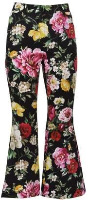 Dolce & Gabbana Flared Floral Pants