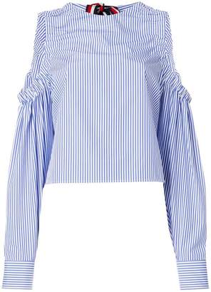 Tommy Hilfiger striped cold shoulder blouse