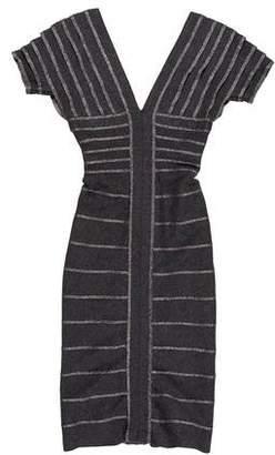 Herve Leger Short Sleeve Mini Dress w/ Tags