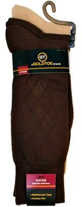 Gold Toe Gt a Goldtoe Brand Men's Rayon Texture Dress Socks, 3-Pack