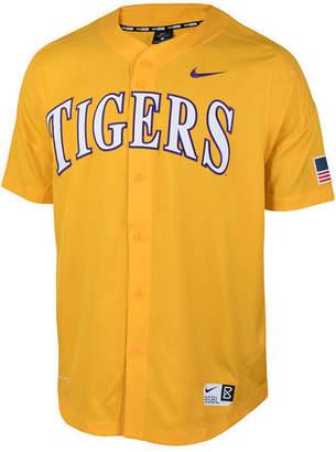 Nike Men's Lsu Tigers Full-Button Vapor Elite Baseball Jersey