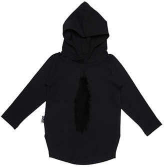 Moi Solid Slits Hoodie