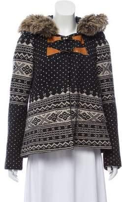Smythe Wool-Blend Button-Up Jacket
