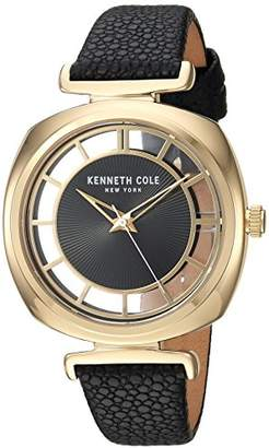 Kenneth Cole New York Women's Analog Quartz Watch with Leather Strap KC15108004