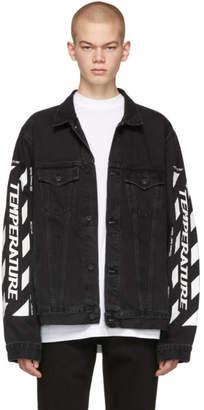 Off-White SSENSE 限定 ブラック デニム Temperature ジャケット