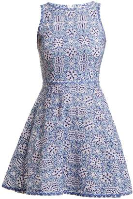 Le Sirenuse LE SIRENUSE, POSITANO Corinne Kantha geometric-embroidered cotton dress