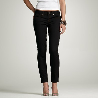 Ankle stretch toothpick jean in black resin rinse