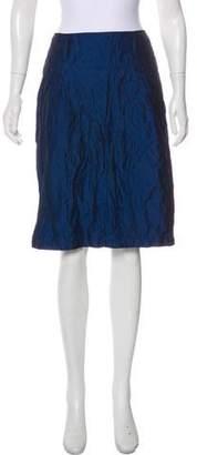 Armani Collezioni Textured Knee-Length Skirt
