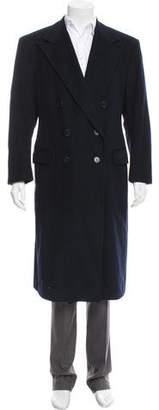 Ralph Lauren Purple Label Wool Double-Breasted Overcoat