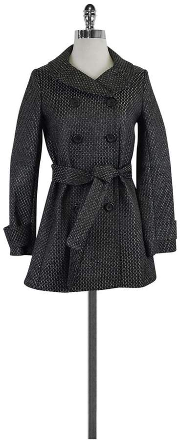 J. Crew Collection Grey & Black Metallic Brocade Coat