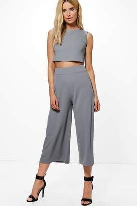 boohoo Boxy Crop Top & Culotte Co-ord