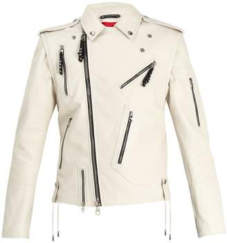 Alexander McQueen Detachable-sleeve leather jacket