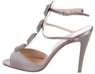 Manolo Blahnik Embellished T-Strap Sandals w/ Tags