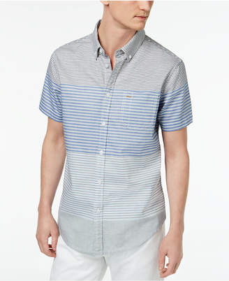 Calvin Klein Jeans Men's Striped Short-Sleeve Oxford Shirt