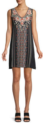 Johnny Was Calida Sleeveless Embroidered Tank Tunic