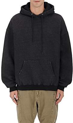 R 13 Men's Distressed Cotton Fleece Hoodie