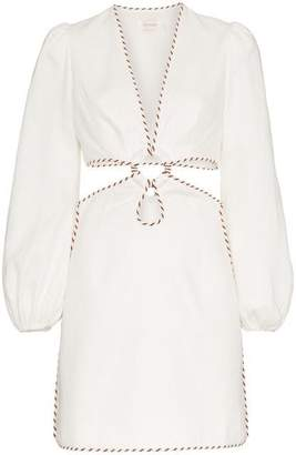 Zimmermann Corsage Cutout Mini Dress