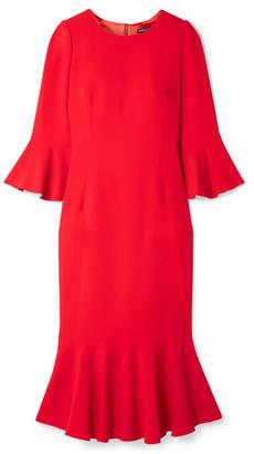 Dolce & Gabbana Ruffled Cady Midi Dress - Papaya