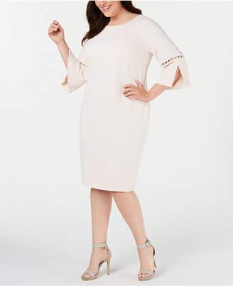 9b6e21792 Calvin Klein Plus Size Embellished Bell-Sleeve Dress