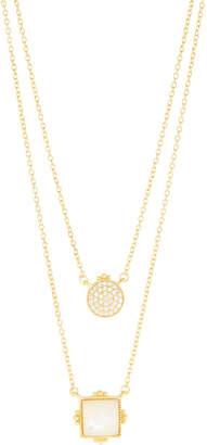 Freida Rothman Amazonian Allure Double Pendant Necklace