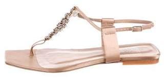 Pedro Garcia Crystal-Embellished Satin Sandals