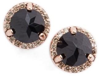 Women's Anna Sheffield Black Spinel & Champagne Diamond Rosette Stud Earrings $1,300 thestylecure.com