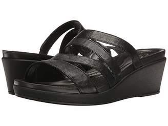 Crocs Leigh-Ann Mini Wedge Leather Women's Wedge Shoes