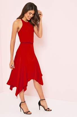 Lipsy Halter Fit & Flare Dress - 4 - Red