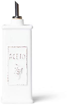 Vietri Lastra Vinegar Can - White