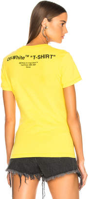 Off-White Off White Quotes Fitted Tee