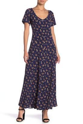Spirit of Grace Double Scoop Print Maxi Dress
