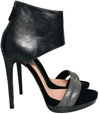 Barbara Bui Metallic Leather Sandals