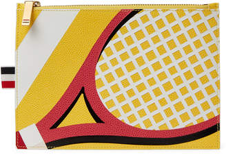 Thom Browne Yellow Tennis Leather Coin Purse