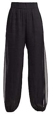 Halston Women's Sheer Side Panel Pants