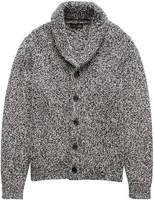 Banana Republic Marled Cotton Shawl-Collar Cardigan Sweater