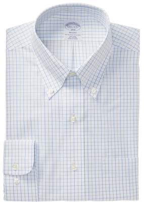 Brooks Brothers Graph Check Regent Modern Trim Fit Dress Shirt