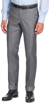 Isaia Aquaspider Wool Dress Pants