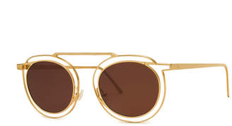 Thierry Lasry Potentially Cutout Round Sunglasses, Yellow