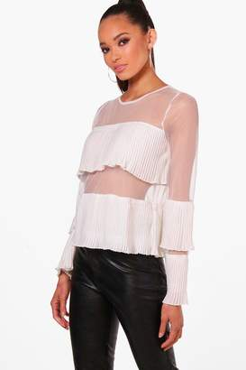 6c2d9f9b9eb9a6 White Off The Shoulder Sheer Tops - ShopStyle UK