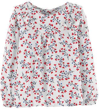 Osh Kosh Oshkosh Long Sleeve Blouse - Toddler Girls