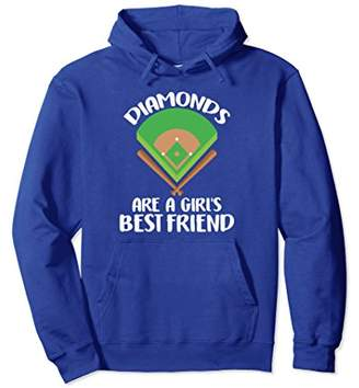 Funny Diamonds Are A Girls Best Friend Baseball Hoodie