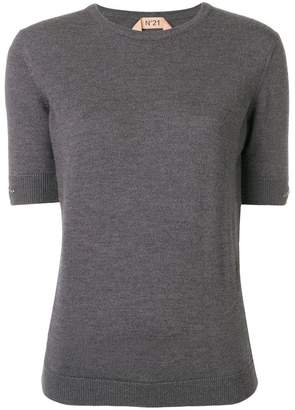 No.21 embellished half sleeve sweater