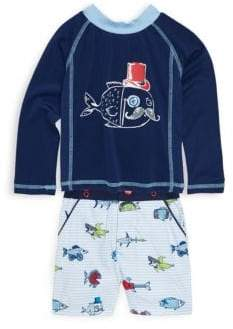 Andy & Evan Baby's Two-Piece Fish-Print Top and Shorts Set